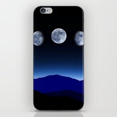 Moon Phases #blue iPhone Skin