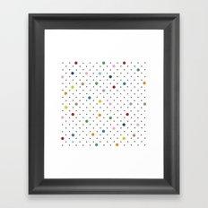 Pin Points Polka Dot Framed Art Print