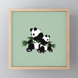 Growing Up Panda Framed Mini Art Print