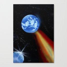 Comet World Canvas Print