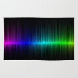 Rainbow Radio Waves Digital Illustration - Artwork Rug