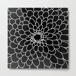 Black Chrysanth Metal Print