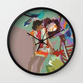 Maria de las Flores Wall Clock