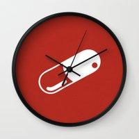 akira Wall Clocks featuring Akira Poster by AJAN