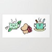 Arroz Con Mint Tea Con Bizcocho Art Print