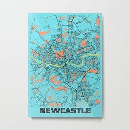 Newcastle - United Kingdom Gloria City Map Metal Print