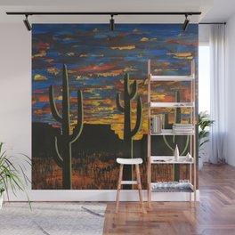 Brilliant Southwest Sunset Wall Mural