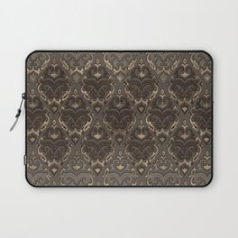 Oriental Pattern -Pastels and Brown Leather texture Laptop Sleeve