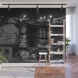 Fisherman in the night Wall Mural