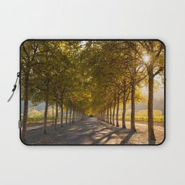 Napa Valley Tree Lined Path, Fall Colors, Autumn, Sunshine, California Photography, Thanksgiving Art Laptop Sleeve
