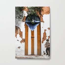 Puerto Rico Door Metal Print