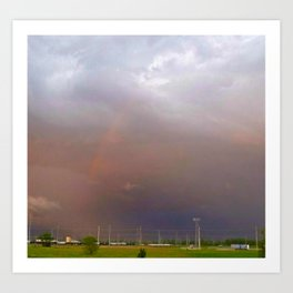 Rainbow In The Storm Art Print