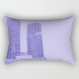 Marina Towers - Chicago - Purple Rectangular Pillow