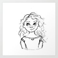 merida Art Prints featuring Merida by rapunzette