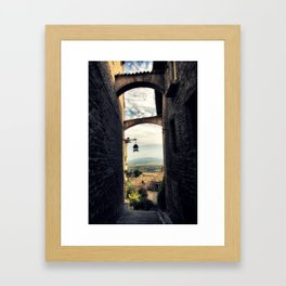 Traditional alley in Assisi Framed Art Print