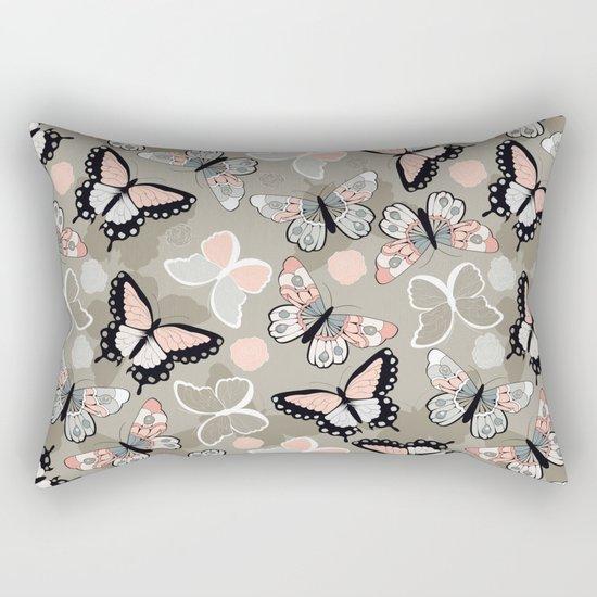 Butterfly pattern 002 Rectangular Pillow
