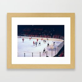 Vintage Hockey Match Framed Art Print
