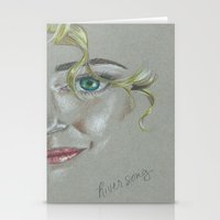 river song Stationery Cards featuring River Song by Alysia Grudier