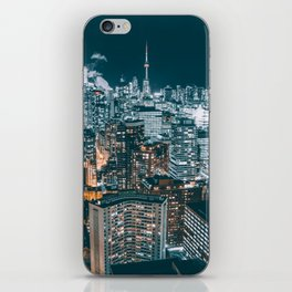 Toronto by night - City at night iPhone Skin
