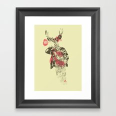 Yo! Deer Music Man Framed Art Print