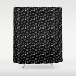 Real Snowflake Small Print Pattern Shower Curtain