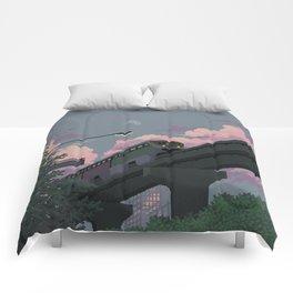 Moonrise Train Comforters