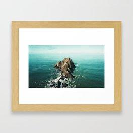 Island green sea Framed Art Print