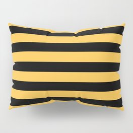 Yellow and Black Bumblebee Stripes Pillow Sham