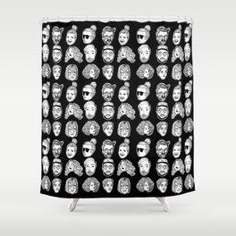 Friendz: B&W  Shower Curtain