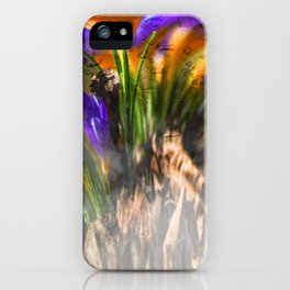 Concept flora : Crocus wings iPhone Case