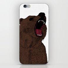 Hear my scream - Bear iPhone & iPod Skin