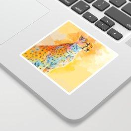 Wild Grace - Cheetah digital painting Sticker