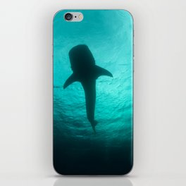 Whale shark silhouette iPhone Skin