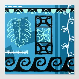Hawaiian Pattern #1 - aqua! Canvas Print