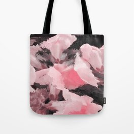 Light Pink Snapdragons Abstract Flowers Tote Bag