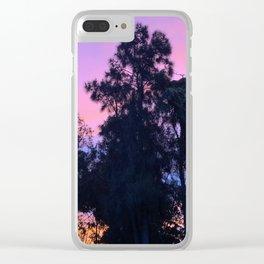 Pretty purple/pink/orange sunset sky Clear iPhone Case