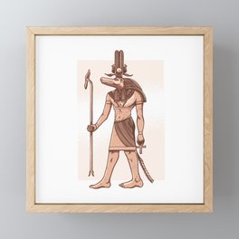 Anubis Egypt lover gift Framed Mini Art Print