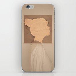 Paper portrait iPhone Skin