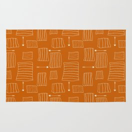 Tribal Arrows and Squares, Primitive Pattern Rug