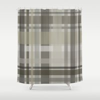 plaid Shower Curtains featuring Plaid by GoAti