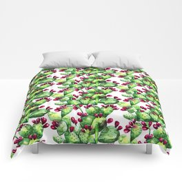 Prickly, Prickly Pear Cactus Comforters