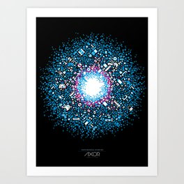 Gaming Supernova - AXOR Gaming Universe Art Print