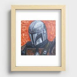 Space Helmet Guy Recessed Framed Print
