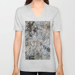 Old Tree Rings Unisex V-Neck