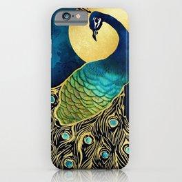 Golden Peacock iPhone Case