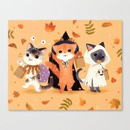 Halloween Cats Canvas Print