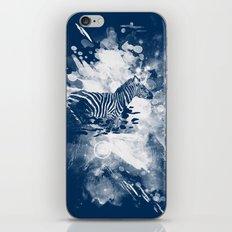 zebra splashed  iPhone & iPod Skin
