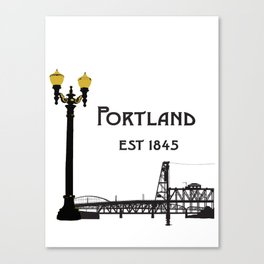 Historic Portland, Oregon by Seasons K Designs Canvas Print