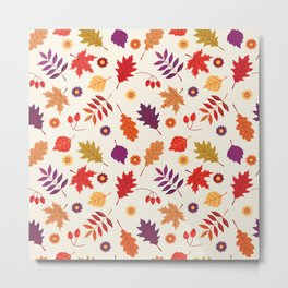 Autumn foliage with bright leaves Metal Print
