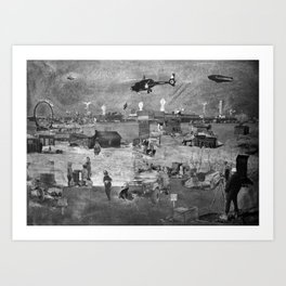 REMIX CITY: ROOSTER TOWN Art Print